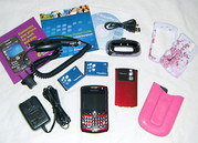 CDMA телефон BlackBerry Curve 8330 Red + тонна аксессуаров